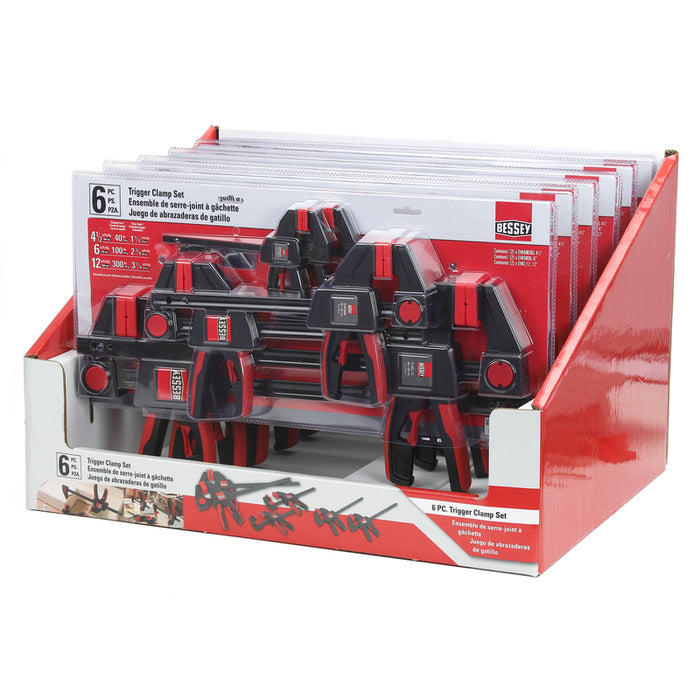 Bessey RES02 Trigger Clamp Set, 6 Piece