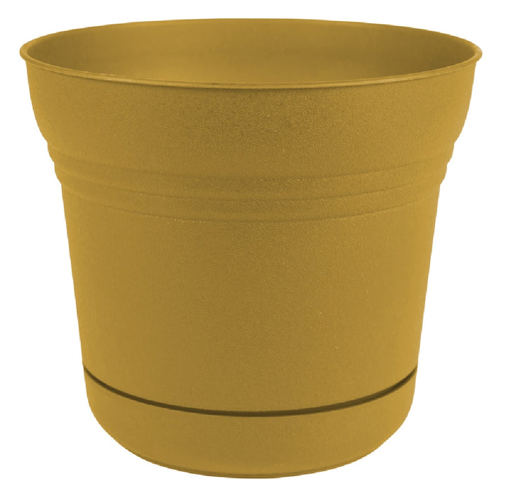 Bloem SP0723 Saturn Planter, Polyresin, Yellow, 7