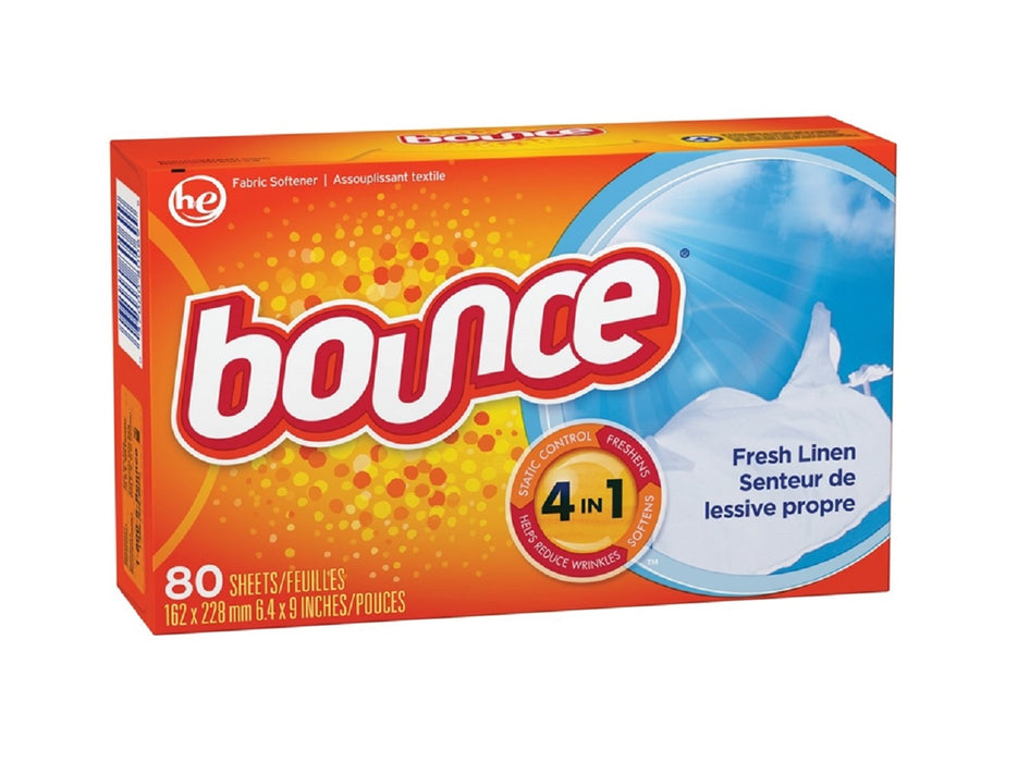 Bounce 82355 Fabric Softener Dryer Sheet, Fresh, 80 Count