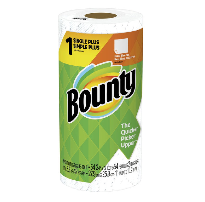 Bounty 47796 Paper Towels, White, 54 Sheet