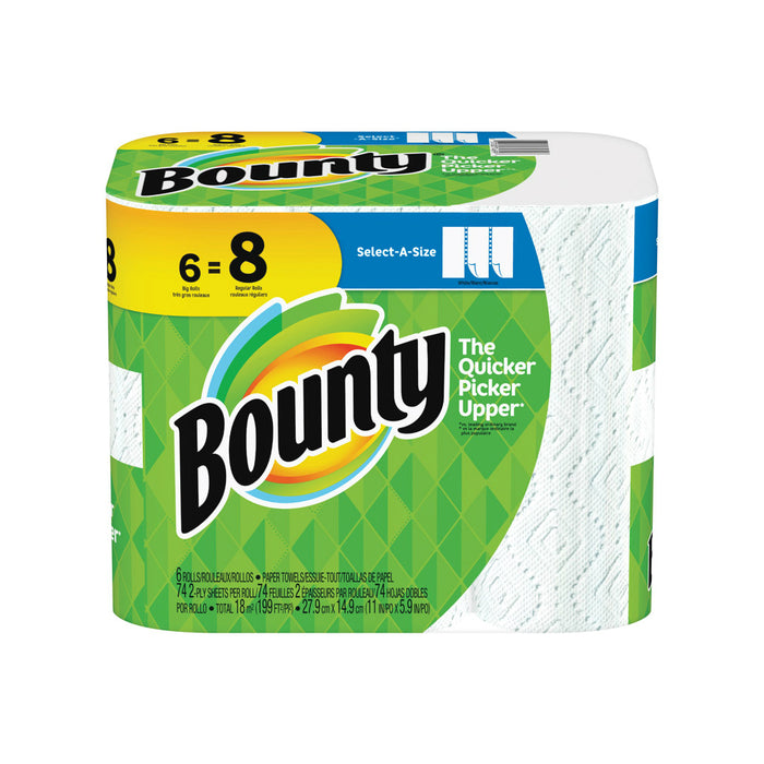 Bounty 74699 Select-A-Size Paper Towels, White
