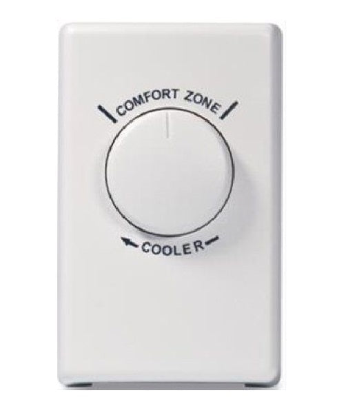 Broan 70TW Wall Thermostat for Fans, White
