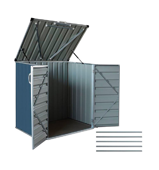Build-Well BW0503HSHFFK-GY Storage Shed & Floor Kit, Grey