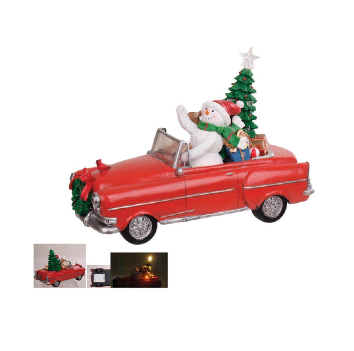 Celebrations B8182949 Lighted Christmas Santa Snowman Driving, 12