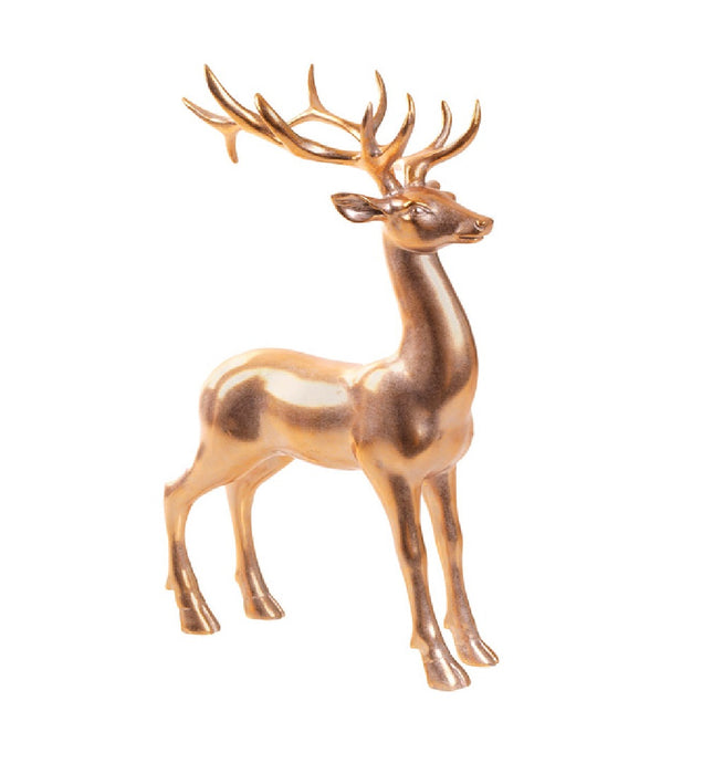 Celebrations BS170194A Christmas Tabletop Deer, Polyresin, Gold, 14