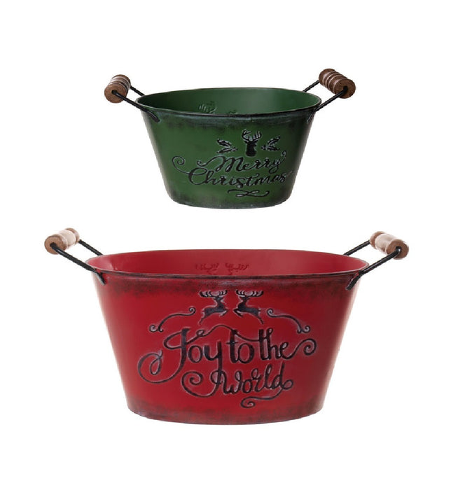 Celebrations D9180462/63 Christmas Bucket, Assorted Colors