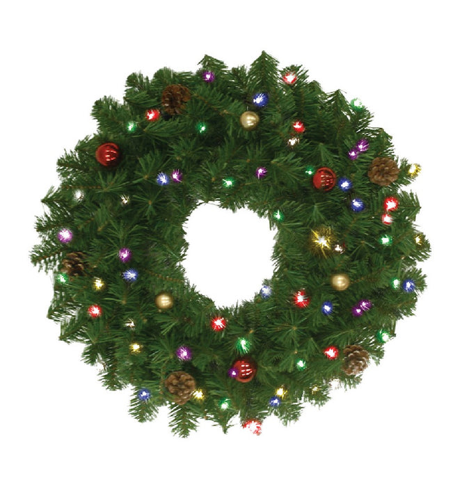 Celebrations DFWRORN24-MUA Prelit Douglas Christmas Wreath, 24