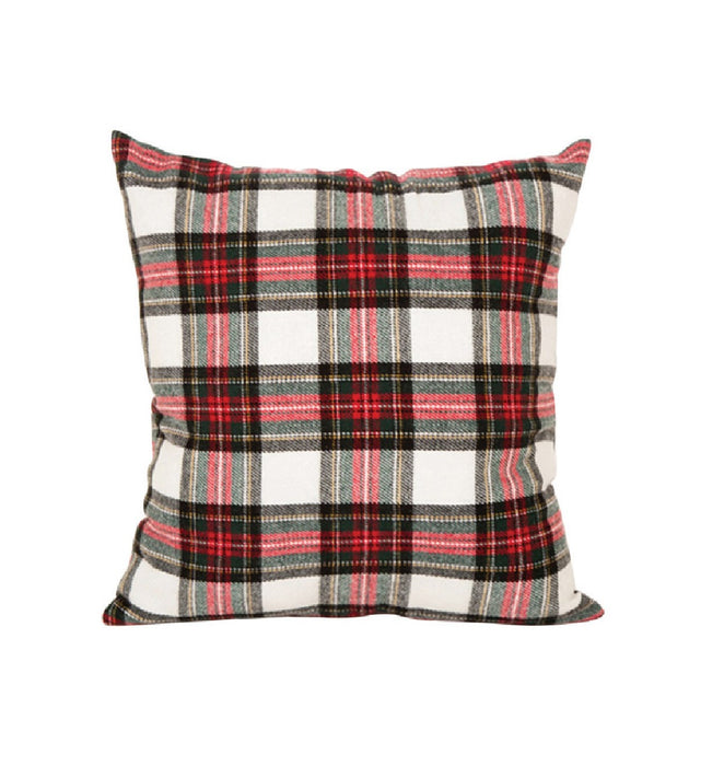 Celebrations GH70214 Christmas Polyester Pillow, Red Plaid