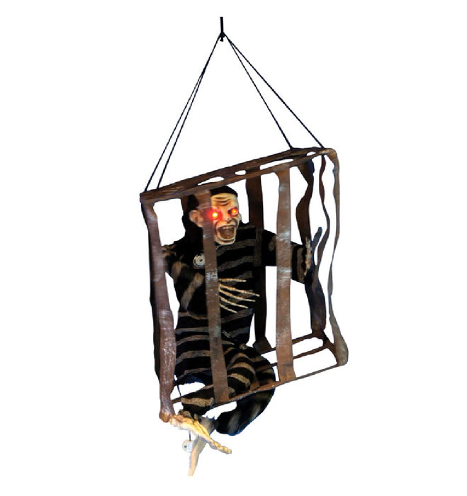 Celebrations H1S0W517 Motion Activated Halloween Hanging Jail Skeleton