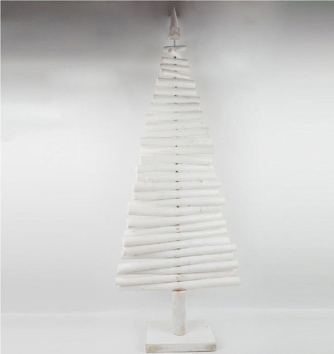 Celebrations JK96147ACE Wooden Christmas Tree, White, 36