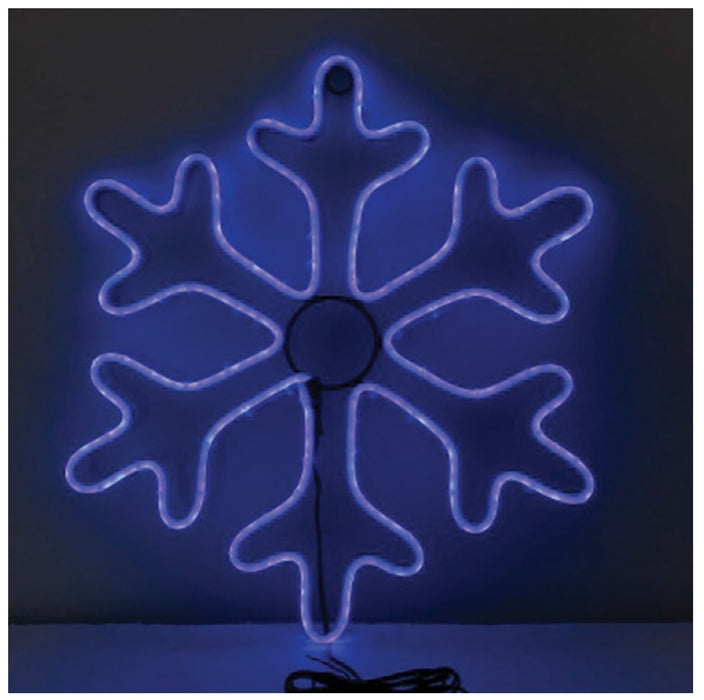 Celebrations 20795-71 LED Silhouette Christmas Snowflake, Blue