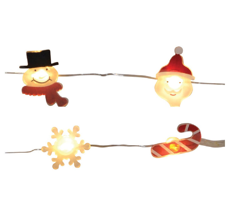 Celebrations MIC-SLV12-SSCSA Christmas Figures LED Mini Light Set