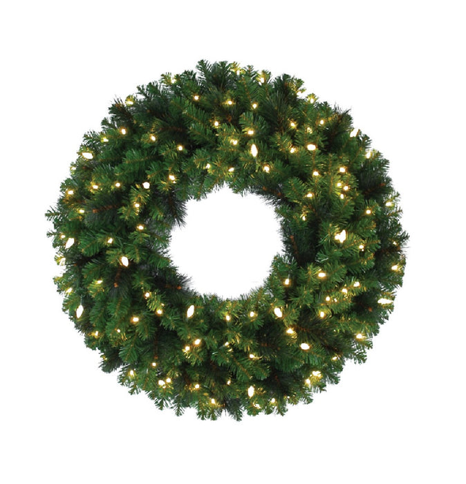 Celebrations MPWR-36-WAC6WWA Prelit LED Mixed Pine Christmas Wreath