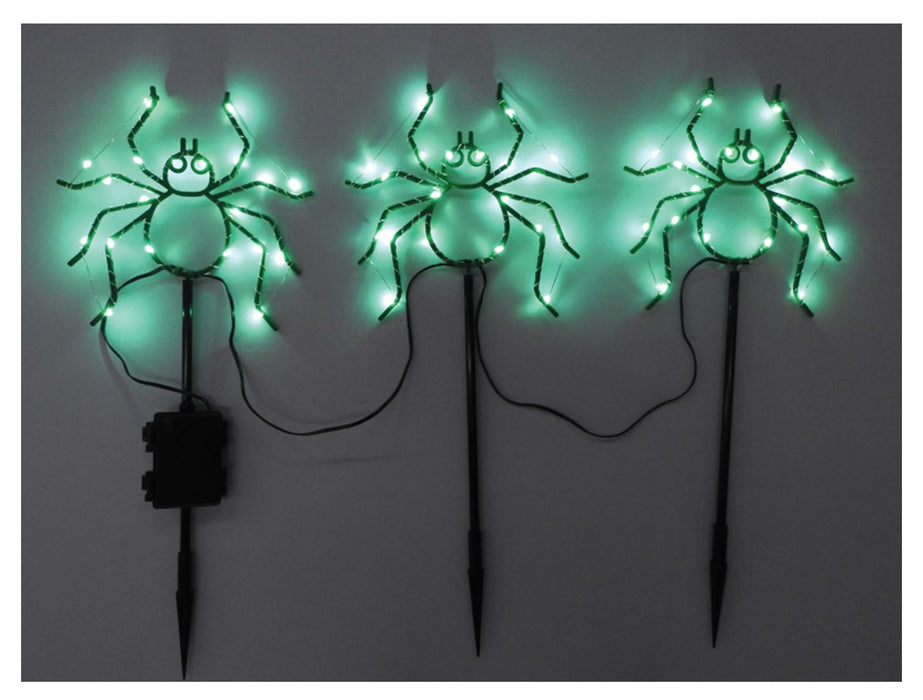 Celebrations 38123-71 Spider Halloween Pathway Lights, Green