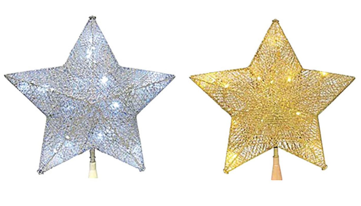 Celebrations 49483-71 Star Christmas Tree Topper, Assorted Colors