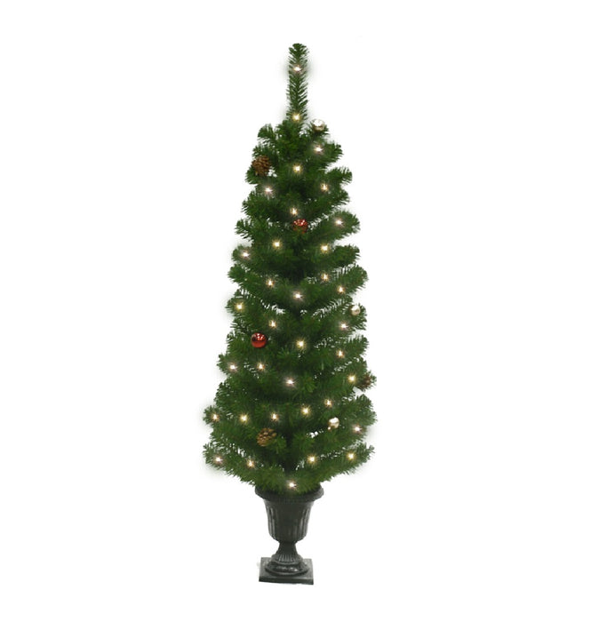 Celebrations TDFPT4ORN00A Douglas Fir Potted Christmas Tree, 4' H