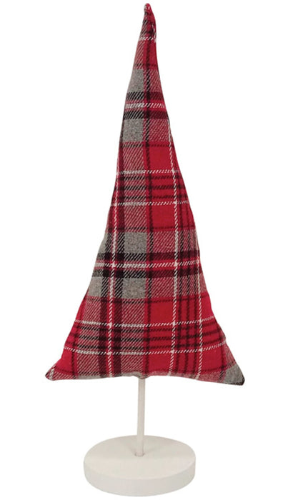 Celebrations TXF3164 Christmas Plaid Tree, Red/Gray