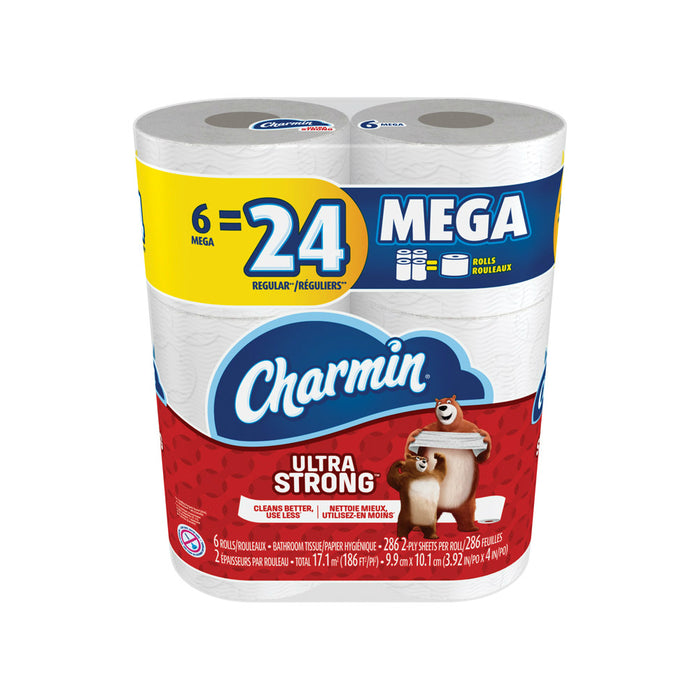 Charmin 76546 Ultra Strong Toilet Paper, 6 Roll, White