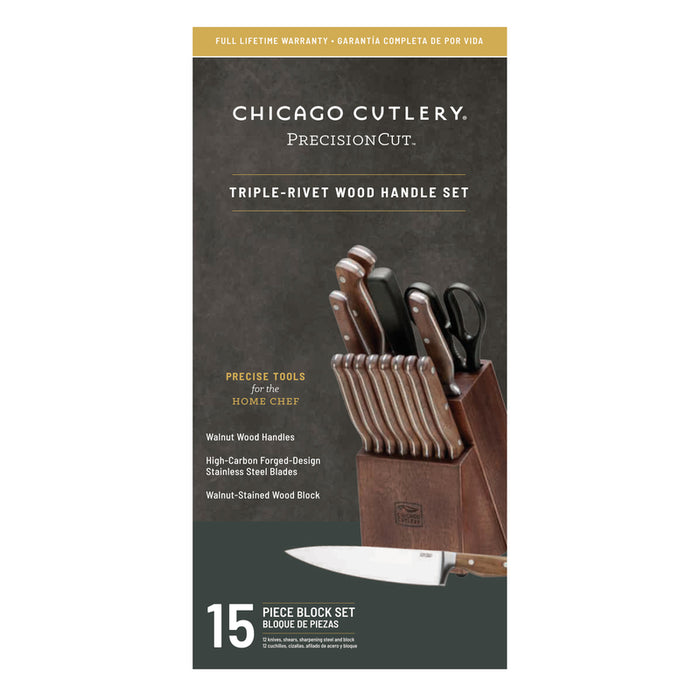 Chicago Cutlery 1134513 Knife Black Set, 15 Pieces