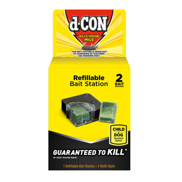 D-Con 1920089545 Bait Station and Bait For Mice, Pack of 2