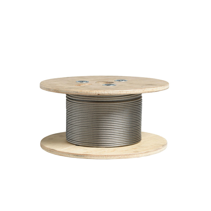 Deckorators 237907 Stainless Steel Cable, 1/8 in. W x 500 ft. L