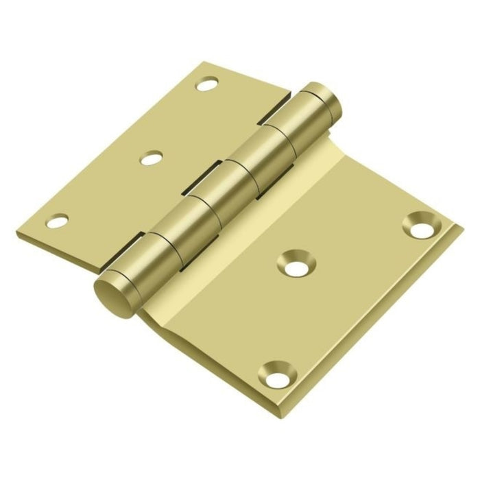 Deltana DHS3035U3 Half Surface Hinge, Bright Brass, 3