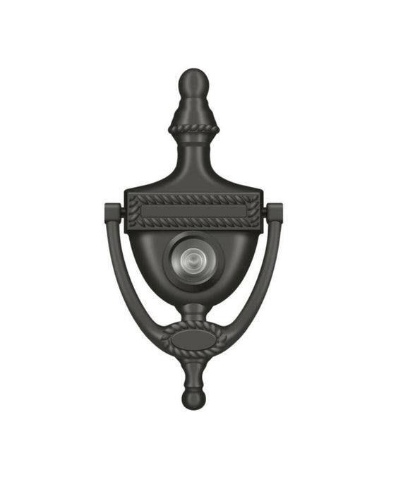 Deltana DKV6RU10B Door Knocker-Viewer, Victorian Rope, Oil Rubbed Bronze