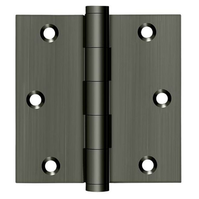 Deltana DSB3515A-R Square Hinge, Residential, Antique Nickel, 3-1/2