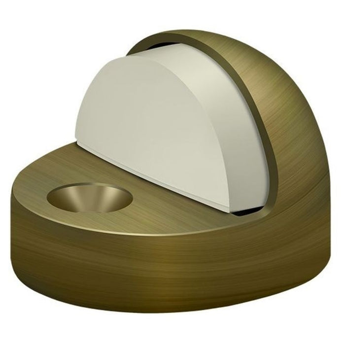 Deltana DSHP916U5 High Profile Dome Door Stop, Antique Brass