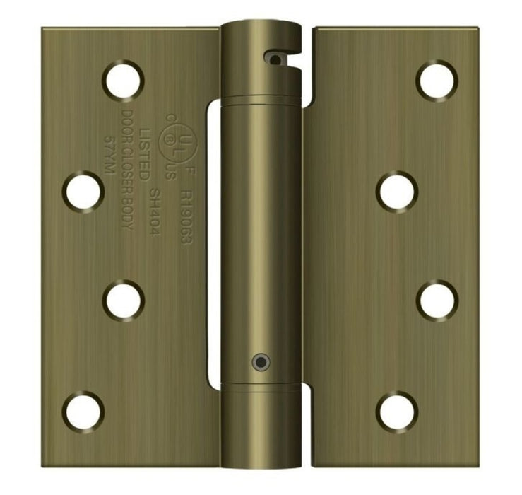 Deltana DSH44U5 Spring Hinge, Antique Brass, 4