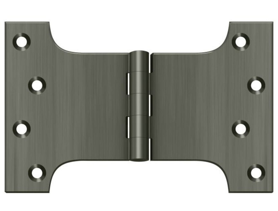 Deltana DSPA4060U15A Parliament Hinge, Antique Nickel, 4