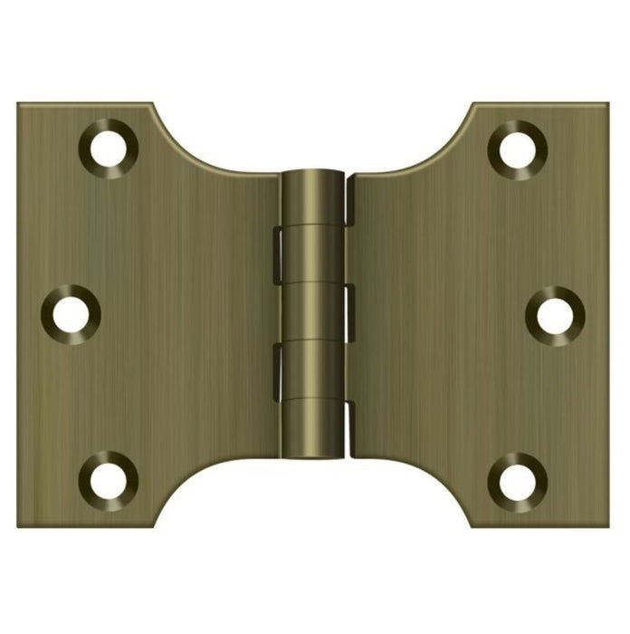 Deltana DSPA3040U5 Parliament Hinge, Antique Brass, 3