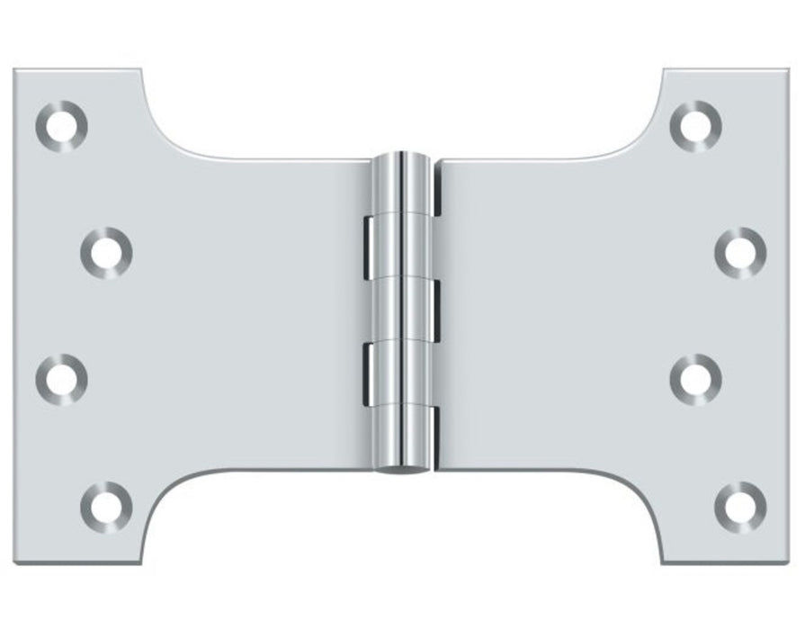 Deltana DSPA4060U26 Parliament Hinge, Bright Chrome, 4
