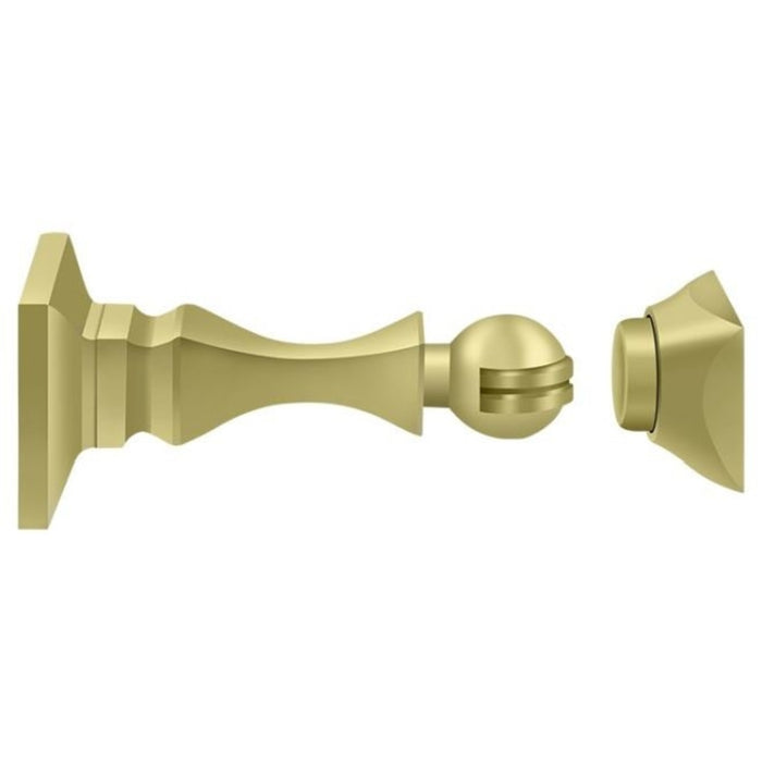 Deltana MDH35U3 Magnetic Door Holder, Bright Brass, 3-1/2