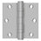 Deltana SS35BU32D Full Mortise Door Hinge, Satin Stainless Steel, 3-1/2""