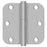 "Deltana SS35R5U32D-R Full Mortise Door Hinge, Satin Stainless Steel, 3-1/2"" x 5/8"""