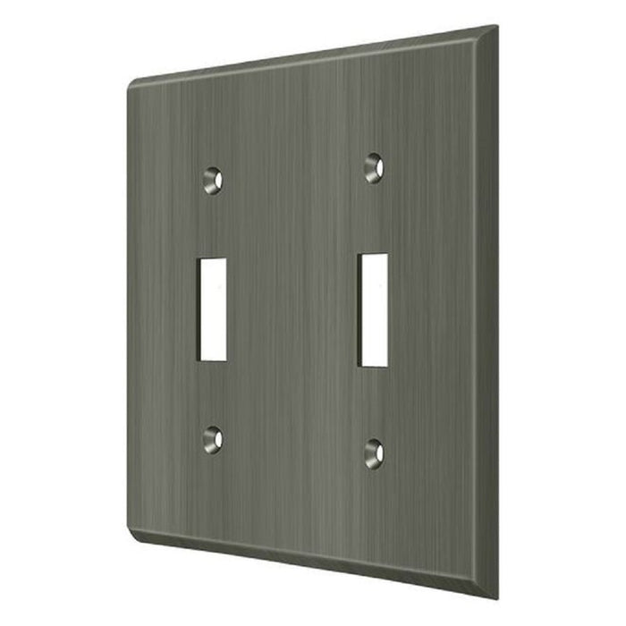 Deltana SWP4761U15A Double Standard Switch Plates, Antique Nickel