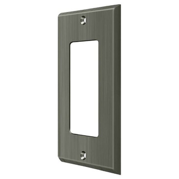 Deltana SWP4754U15A Single Rocker Switch Plate, Antique Nickel