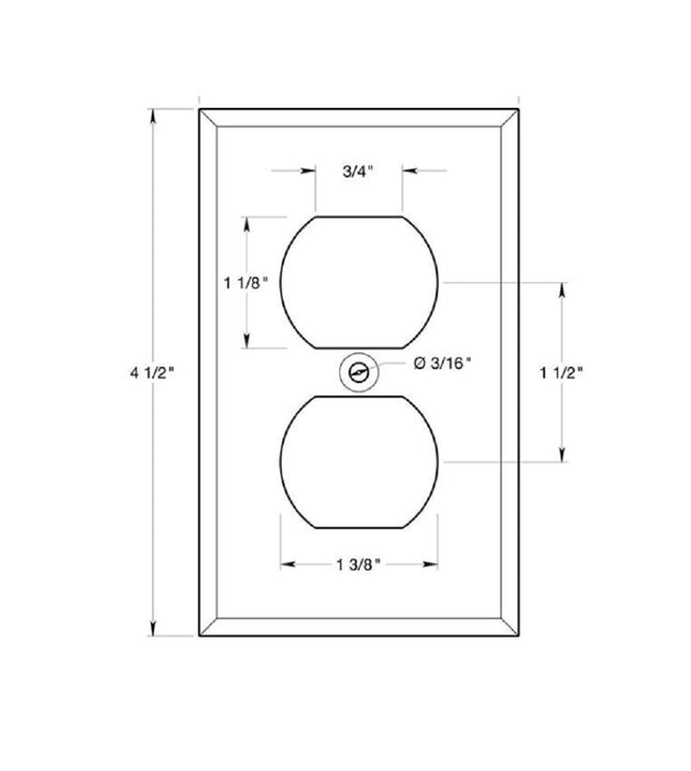 Deltana SWP4752U10B Double Outlet Switch Plates, Oil Rubbed Bronze