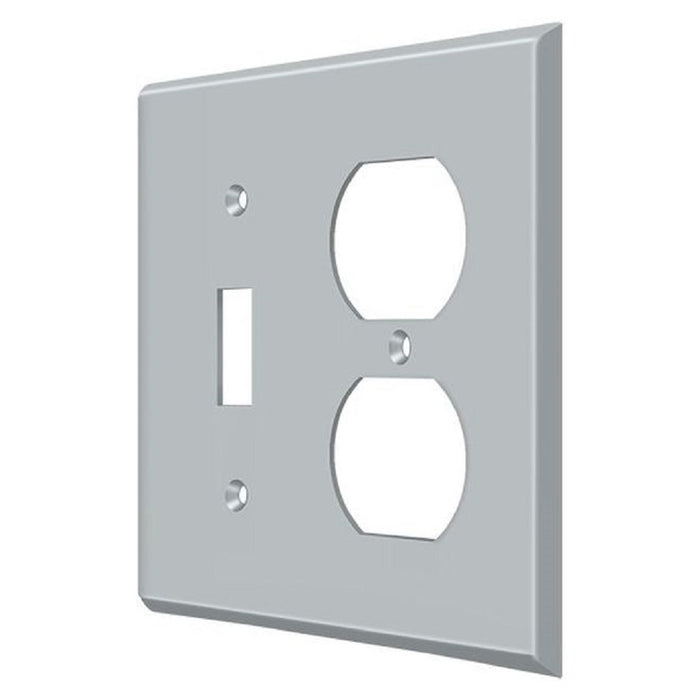 Deltana SWP4762U26D Double Outlet Switch Plate, Satin Chrome