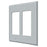 Deltana SWP4741U26D Double Rocker Switch Plate, Satin Chrome
