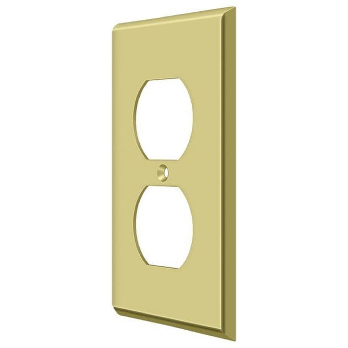 Deltana SWP4752U3 Double Outlet Switch Plates, Bright Brass