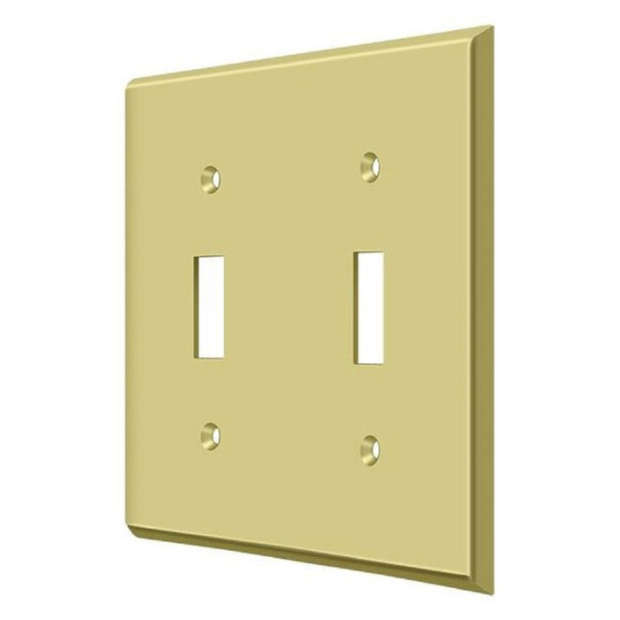 Deltana SWP4761U3 Double Standard Switch Plates, Bright Brass