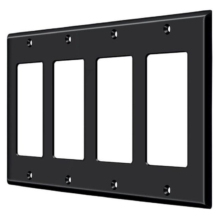 Deltana SWP4744U19 Quadruple Rocker Switch Plate, Black