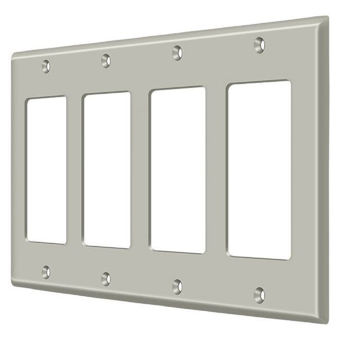 Deltana SWP4744U15 Quadruple Rocker Switch Plate, Satin Nickel