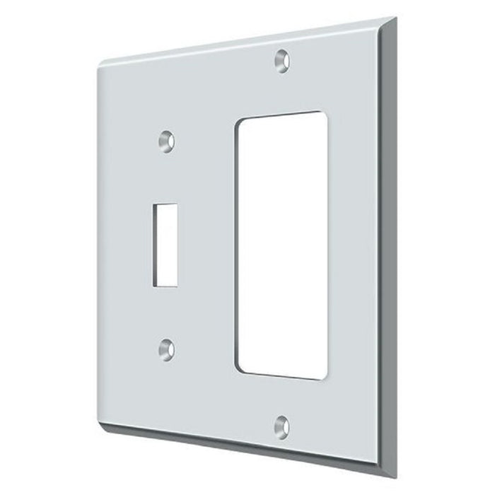 Deltana SWP4743U26 Single Rocker Switch Plate, Bright Chrome