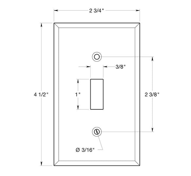Deltana SWP4751U15 Single Standard Switch Plate, Satin Nickel