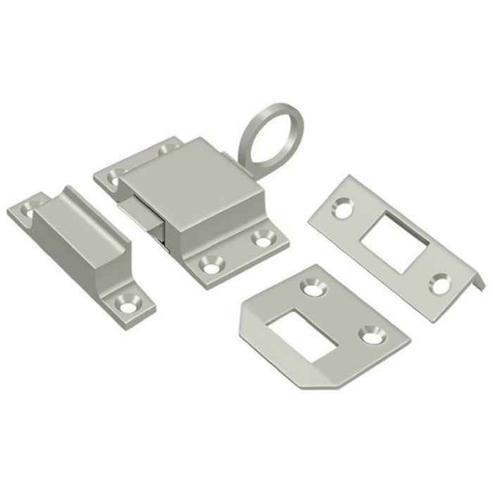 Deltana TC80U15 Transom Catch, Satin Nickel, 1-5/8