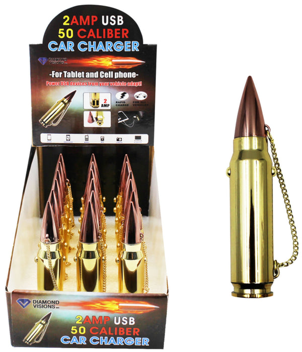 Diamond Visions 01-1808 Max Force Car Charger Bullet, Gold