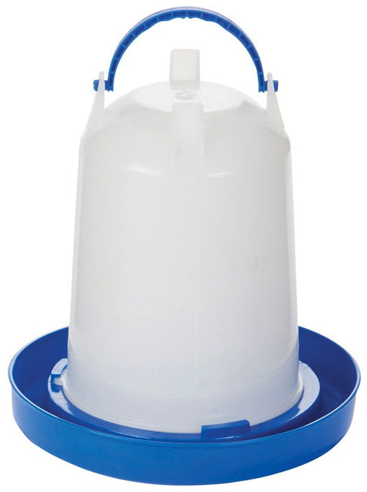 Double-Tuf DT9857 Poultry Waterer, Plastic, Blue, 1.5 Quart